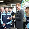 His Royal Highness Prince Harry meets students