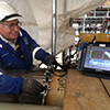 Forth Inspection Service used advanced NDT equipment hired from Ashtead to assist its development of sophisticated test methods for the quality control of new pipelines